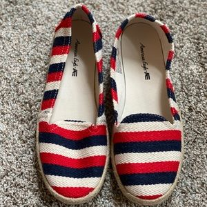 American Eagle Red White & Blue Flats